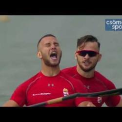 Embedded thumbnail for A világbajnok kajakpáros, Balaska Márk és Birkás Balázs a Sportnapon