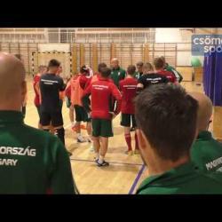 Embedded thumbnail for Így edzett a Csömöri Sportcsarnokban a magyar futsalválogatott!