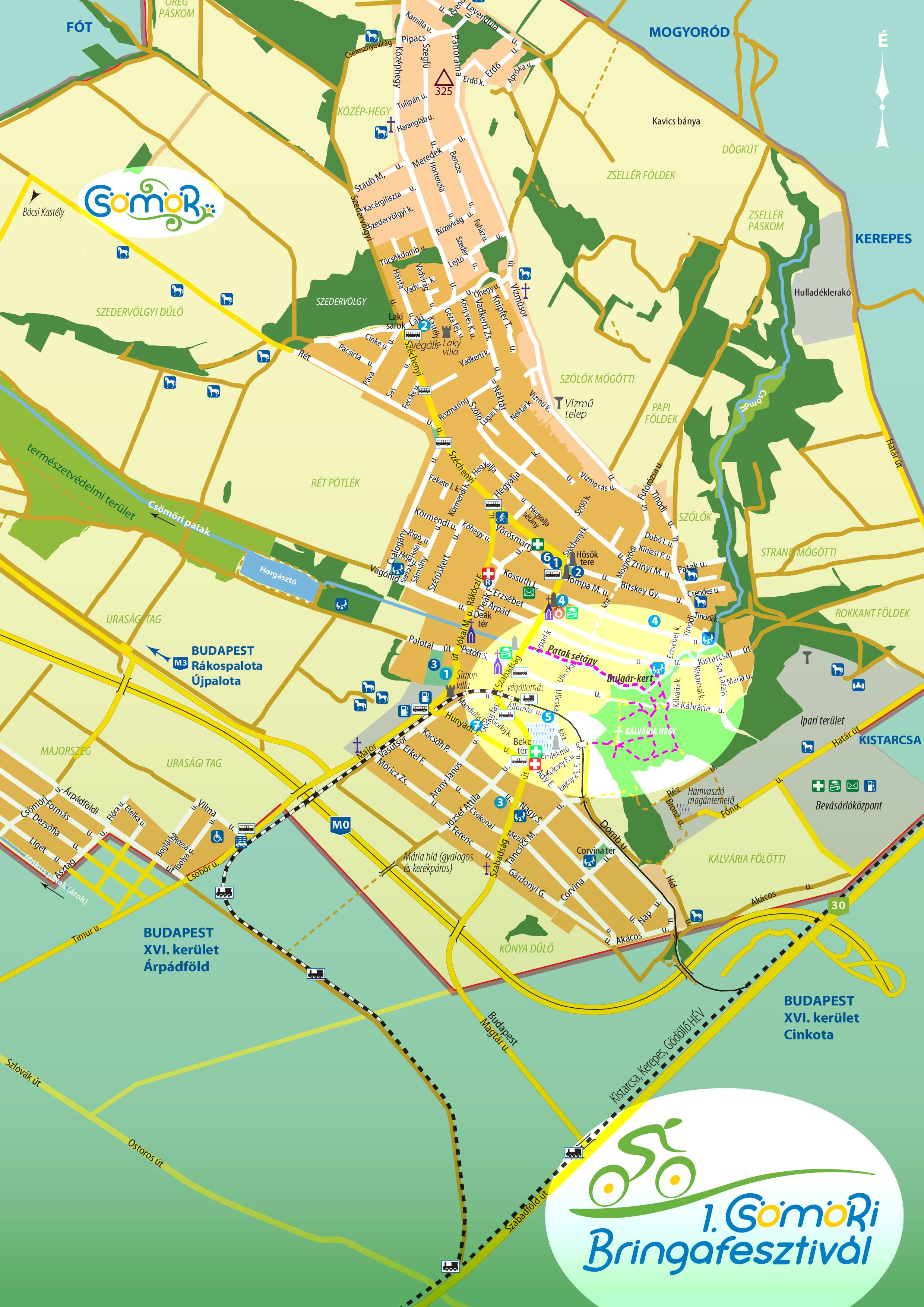 csömör térkép Bringafesztivál   térkép a helyszínről | CsömörSport csömör térkép